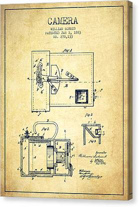 1883 Camera Patent - Vintage Canvas Print by Aged Pixel