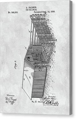 1886 Pigpen Patent Canvas Print by Dan Sproul