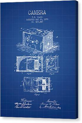 1890 Camera Patent - Blueprint Canvas Print by Aged Pixel