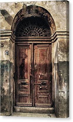 1891 Door Cyprus Canvas Print by Stelios Kleanthous