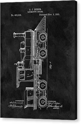 1891 Locomotive Engine Patent Canvas Print by Dan Sproul