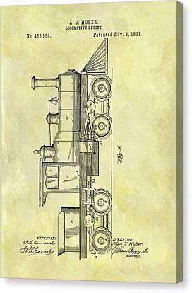 1891 Locomotive Patent Canvas Print by Dan Sproul