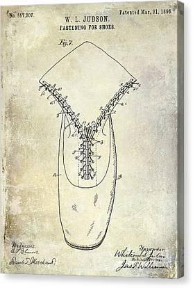 1896 Shoe Patent  Canvas Print by Jon Neidert