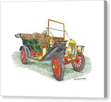 1908 Rambler Kenosha Cadillac Canvas Print by Jack Pumphrey