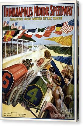 1909 Indy 500 Poster Canvas Print by Jon Neidert
