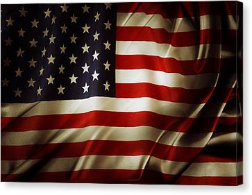 American Flag  Canvas Print by Les Cunliffe