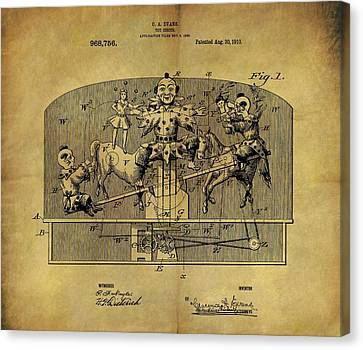 1910 Toy Circus Patent Canvas Print by Dan Sproul
