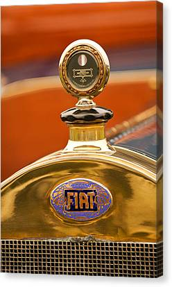 1913 Fiat Type 56 7 Passenger Touring Hood Ornament Canvas Print by Jill Reger