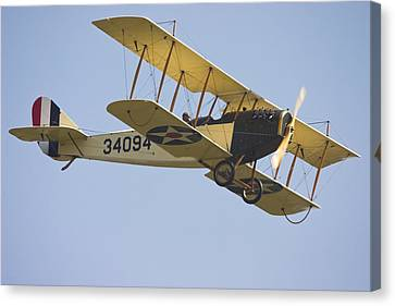 1917 Curtiss Jn-4d Jenny Flying Canvas Photo Poster Print Canvas Print by Keith Webber Jr