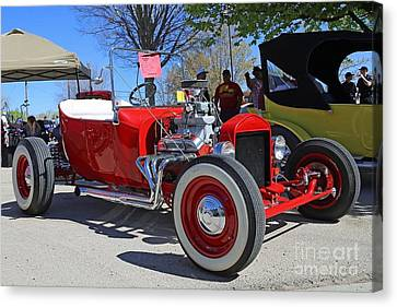 1923 Red Ford Model T Canvas Print by Blaine Nelson
