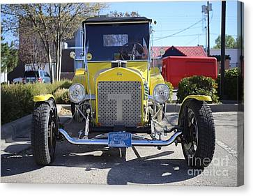 1923 Yellow Ford Model T Front Canvas Print by Blaine Nelson