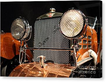 1924 Hispano Suiza Dubonnet Tulipwood . Grille Canvas Print by Wingsdomain Art and Photography