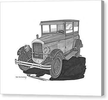 1925 Jewett 2 Door Touring Sedan Canvas Print by Jack Pumphrey