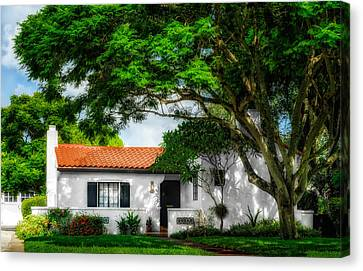 1926 Florida Venetian Style Home - 19 Canvas Print by Frank J Benz