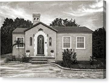 1926 Venetian Style Florida Home - 12 Canvas Print by Frank J Benz