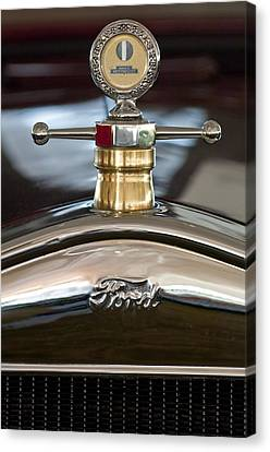 1927 Ford T Roadster Hood Ornament Canvas Print by Jill Reger