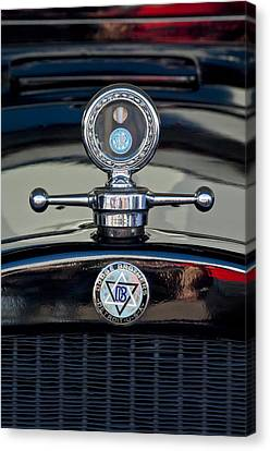 1928 Dodge Brothers Hood Ornament Canvas Print by Jill Reger