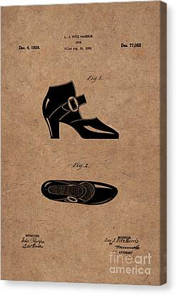 1928 Mary Jane Shoes Patent 1 Canvas Print by Nishanth Gopinathan