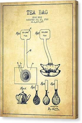 1928 Tea Bag Patent 02 - Vintage Canvas Print by Aged Pixel