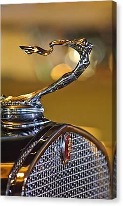1930 Cadillac Roadster Hood Ornament Canvas Print by Jill Reger