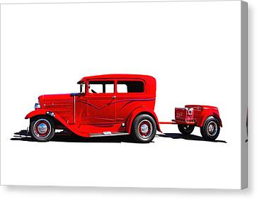 1930 Ford Sedan Canvas Print by Nick Gray