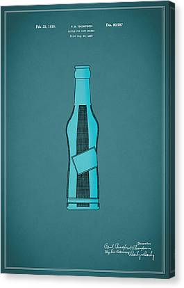 1930 Pepsi Cola Bottle Patent Canvas Print by Mark Rogan