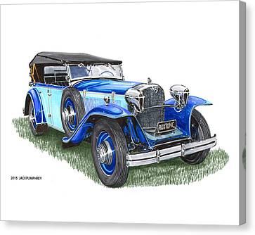 Classic 1931 Ruxton C Dual Cowl Phaeton Canvas Print by Jack Pumphrey
