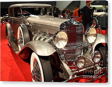 1932 Duesenberg Sj Turing Front Angle Canvas Print by Wingsdomain Art and Photography