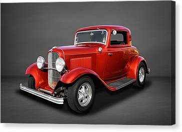 1932 Ford 3 Window Coupe  -  3 Canvas Print by Frank J Benz