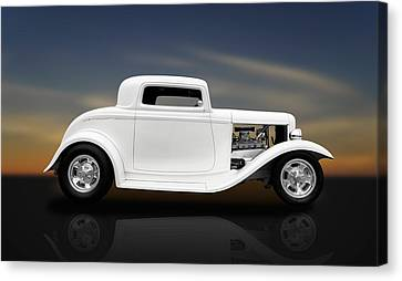 1932 Ford Coupe - 3 Window Canvas Print by Frank J Benz