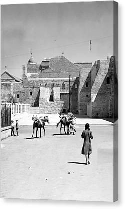 1934 And 1939 Bethlehem Nativity Church  Canvas Print by Munir Alawi