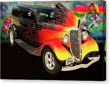 1934 Ford Street Rod Classic Car 5545.03 Canvas Print by M K  Miller