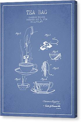 1934 Tea Bag Patent - Light Blue Canvas Print by Aged Pixel