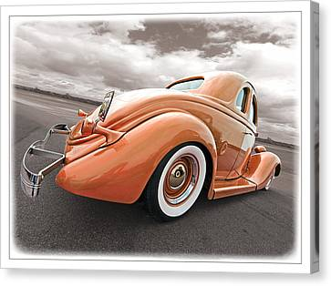 1935 Ford Coupe In Bronze Canvas Print by Gill Billington