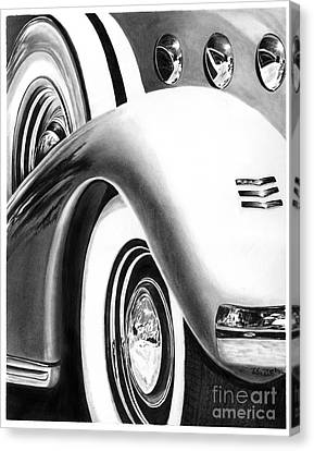 1935 Lasalle Abstract Canvas Print by Peter Piatt