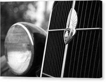 1935 Plymouth Emblem - Chrysler Motors Product Canvas Print by Gordon Dean II