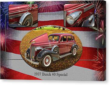 1937 Buick 40 Special 5541.27 Canvas Print by M K  Miller