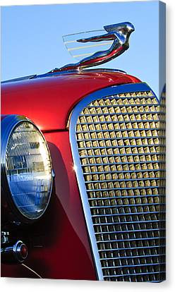 1937 Cadillac V8 Hood Ornament 2 Canvas Print by Jill Reger