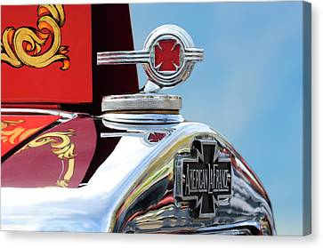 1938 American Lafrance Fire Truck Hood Ornament Canvas Print by Jill Reger