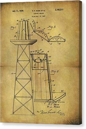 1939 Airport Beacon Patent Canvas Print by Dan Sproul