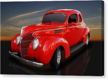 1939 Ford Coupe Canvas Print by Frank J Benz