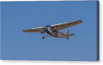 1939 Ford Tri Motor Airplane Canvas Print by Roger Mullenhour
