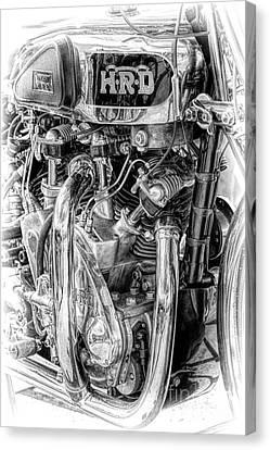 1939 Vincent Hrd Rapide Canvas Print by Tim Gainey