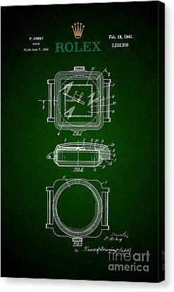 1941 Rolex Watch Patent 3 Canvas Print by Nishanth Gopinathan