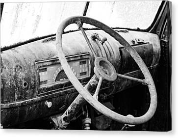 1946 Chevy Work Truck Dashboard Canvas Print by Jon Woodhams