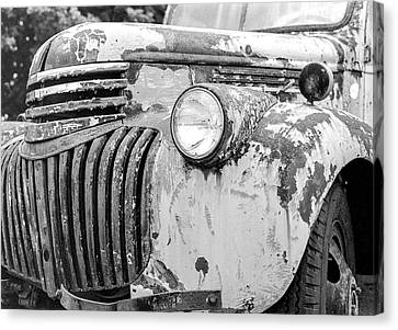 1946 Chevy Work Truck Fender And Grill Canvas Print by Jon Woodhams