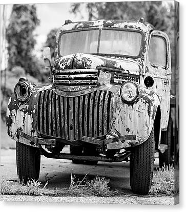 1946 Chevy Work Truck Front Canvas Print by Jon Woodhams