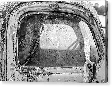 1946 Chevy Work Truck Passenger Window Canvas Print by Jon Woodhams