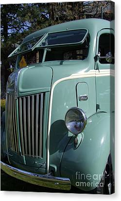 1947 Ford Cab Over Truck Canvas Print by Mary Deal