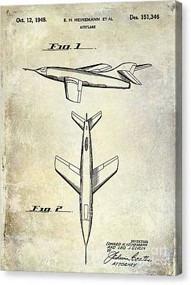 1947 Jet Airplane Patent Canvas Print by Jon Neidert